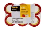 3199 PK6 Scotch(R) Printed Message CHECK SEAL BEFORE ACCEPTING Box Sealing Tape 3199 Clear with red print, 48 mm x 100 m, 6 rolls per pack, 6 packs per case