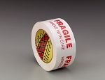 3772 Scotch(R) Printed Message Box Sealing Tape 3772 White, 48 mm x 100 m, 36 per case Bulk, Fragile Handle With Care