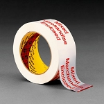 3775 Scotch(R) Printed Message Box Sealing Tape 3775 White, 48 mm x 100 m, 36 per case