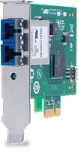 AT-2711FX/ST-901 32 bit 100Mbps PCI Express Fast Ethernet Fiber Adapter Card; ST connector; includes both standard and low profile brackets; Single pack