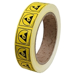 06713  LABEL, ESD PROTECTIVE SYMBOL 1''x1'', PERMANENT, RL/1000