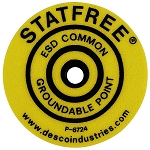 06721 LABEL, GROUNDABLE POINT, ROUND PACK OF 10