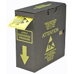 06735 LABEL, ESD ATTENTION, 2''x2'', ROLL OF 1000, W/DISPENSER BOX
