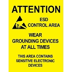 06742 POSTER, AREA WARNING, 17'' x 22'', PACK OF 5