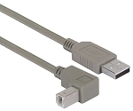 CAA-90DB-03M Right Angle USB Cable, Straight A Male/Down Angle B Male, 0.3m - Pricing includes MFR implemented tariff charge
