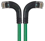 TRD695RA8GR-20 Category 6 Right Angle RJ45 Ethernet Patch Cords - RA (Left) to RA (Right) - Green, 20.0Ft