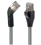 TRD845LSGRY-3  Category 5E Shielded 45° Patch Cable, Straight/Left 45° Angle, Gray 3.0 ft