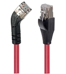 TRD845LSRED-3  Category 5E Shielded 45° Patch Cable, Straight/Left 45° Angle, Red 3.0 ft
