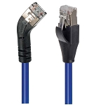 TRD845LSBLU-1  Category 5E Shielded 45° Patch Cable, Straight/Left 45° Angle, Blue 1.0 ft