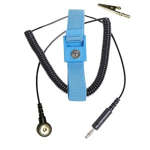 04540  TRUSTAT ADJUSTABLE BLUE WRIST STRAP, 6' COIL CORD 4MM SNAP