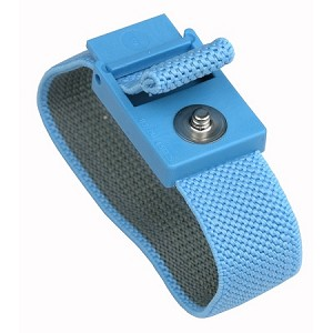 04560  TRUSTAT WRISTBAND, ELASTIC, BLUE, BAND ONLY, 4MM SNAP