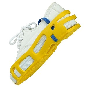 04567  STAT-A-REST FOOT GROUNDER, PAIR, X LARGE, YELLOW
