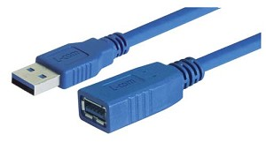 CAU3AX-03M USB 3.0 Cable Type A Male/Female Extension, 0.3M - Pricing includes MFR implemented tariff charge