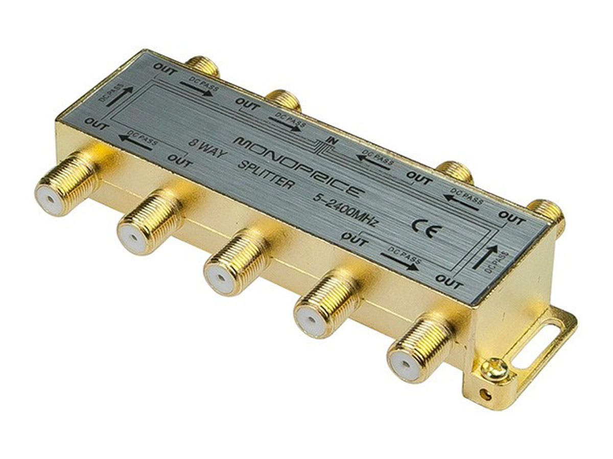 10017 Monoprice - 8-Way Coaxial Splitter